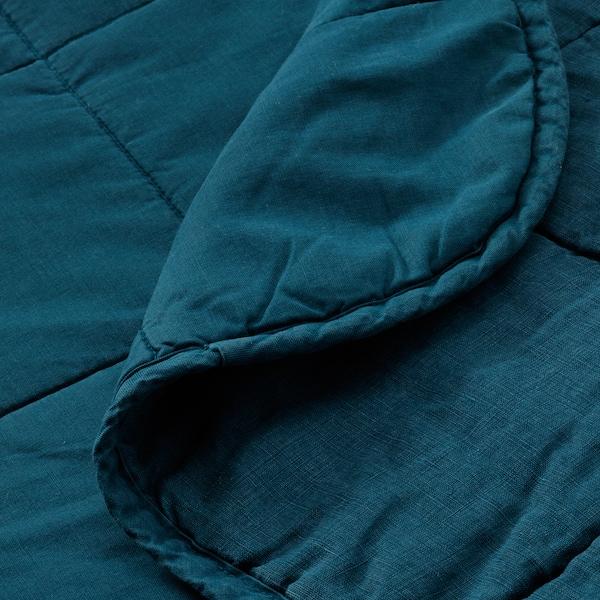 GULVED Couvre-lit, bleu foncé, 260x250 cm