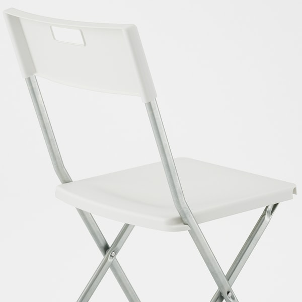 GUNDE Chaise pliante, blanc