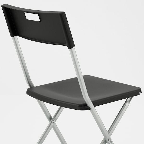GUNDE Chaise pliante, noir