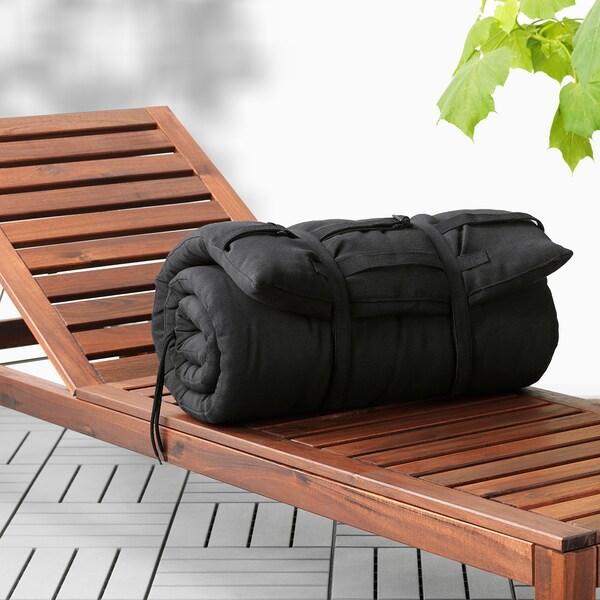 HÅLLÖ Matelas fin bain de soleil, noir, 190x60 cm IKEA