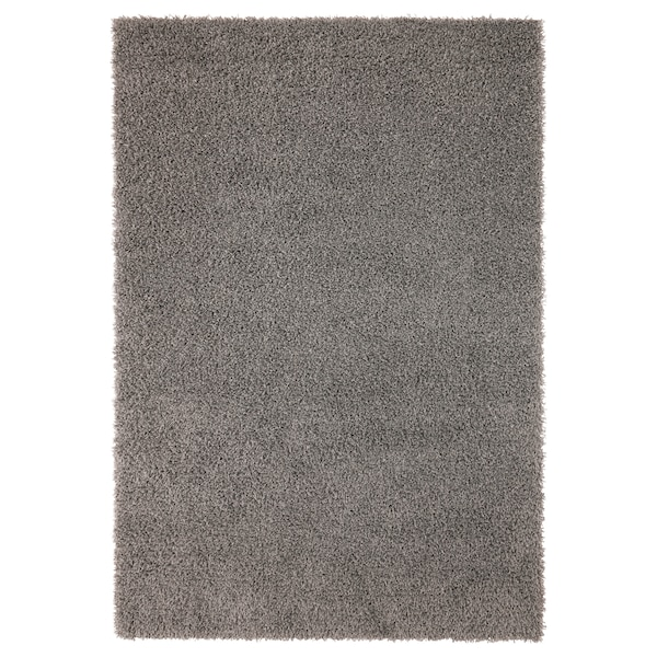 HAMPEN Tapis, poils hauts, gris, 133x195 cm