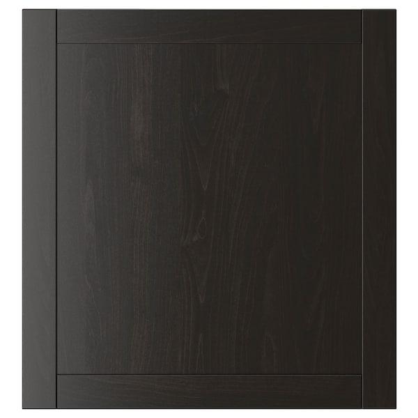 HANVIKEN Porte, brun noir, 60x64 cm