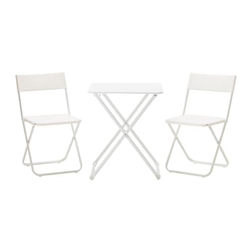 H r fejan table 2 chaises ext rieur ikea for Mobilier exterieur ikea