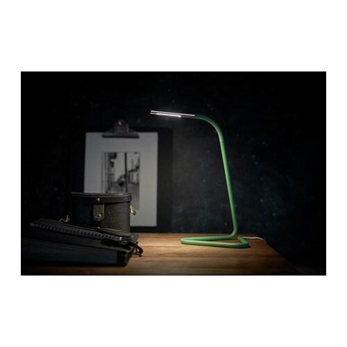 Harte Lampe De Bureau A Led Noir Couleur Argent Ikea