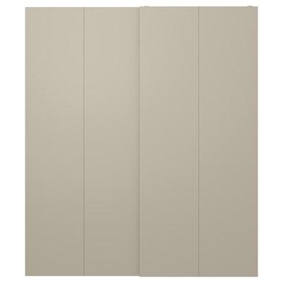 HASVIK Jeu 2 ptes coul, beige, 200x236 cm