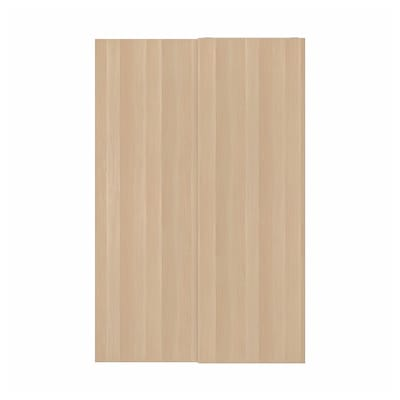 HASVIK Jeu 2 ptes coul, effet chêne blanchi, 150x236 cm