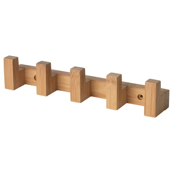 HAVERN Patère à crochets, bambou, 28 cm