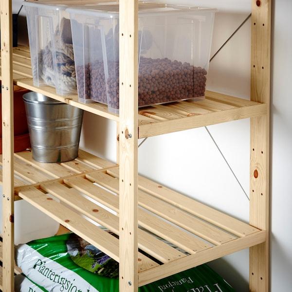 HEJNE 3 sections/étagères, pin, 230x50x171 cm - IKEA