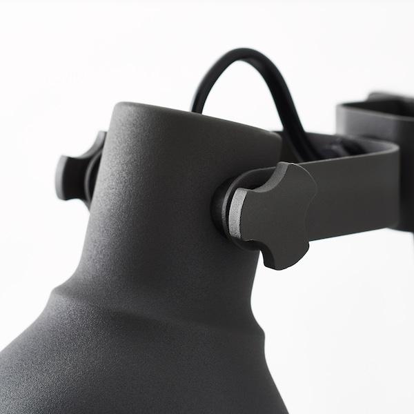 HEKTAR Applique/spot à pince, gris foncé