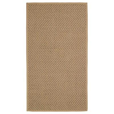 HELLESTED Tapis tissé à plat, naturel/brun, 80x150 cm