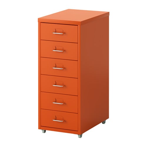 helmer caisson tiroirs sur roulettes orange ikea. Black Bedroom Furniture Sets. Home Design Ideas