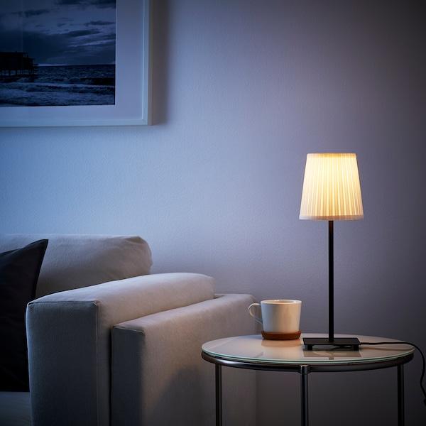 HEMMA Pied de lampe de table, noir, 35 cm