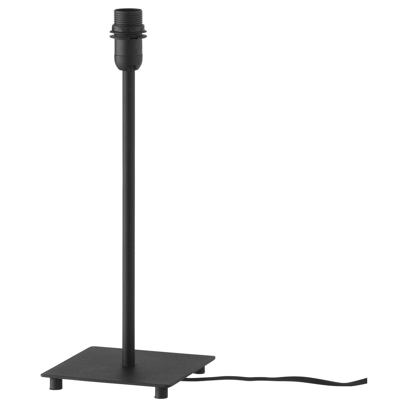 HEMMA Pied de lampe de table noir 35 cm