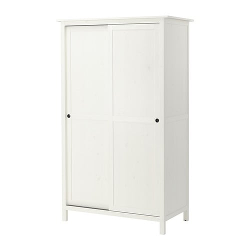 hemnes armoire 2 portes coulissantes teint blanc ikea. Black Bedroom Furniture Sets. Home Design Ideas