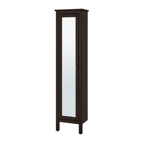 Hemnes Armoire Avec Porte Miroir Teinture Noir Brun Ikea