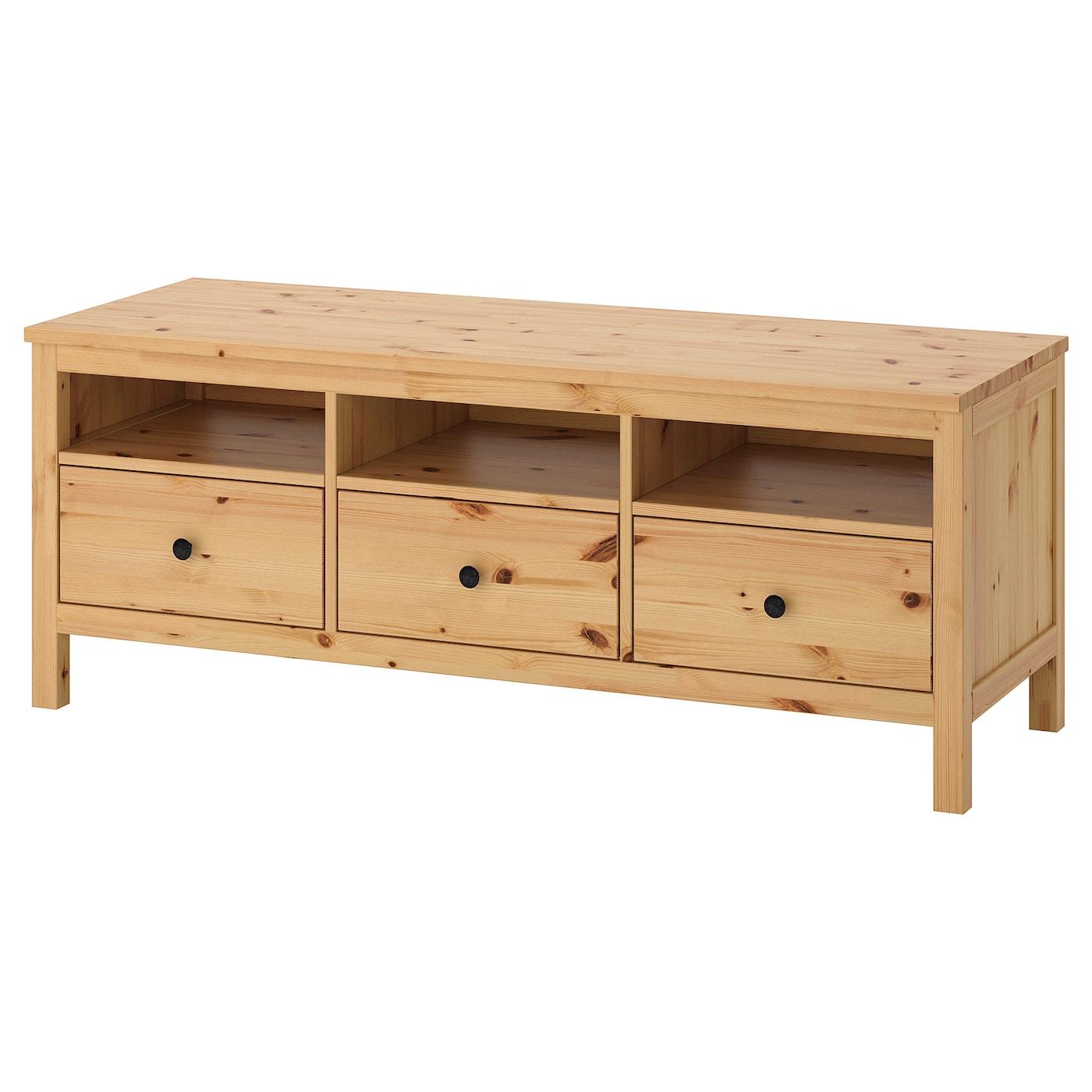 Hemnes Banc Tv Brun Clair 148x47x57 Cm Ikea