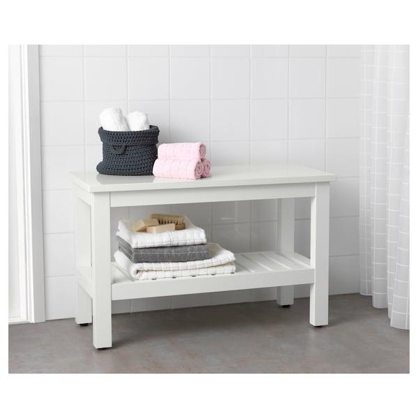 HEMNES banc blanc 83 cm 37 cm 53 cm 100 kg