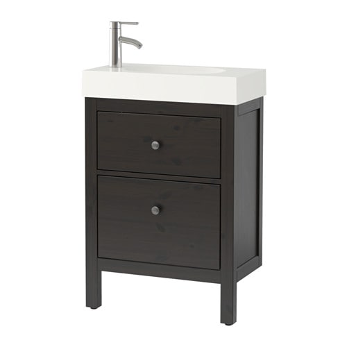 hemnes br viken meuble lavabo 2tir brun noir ikea. Black Bedroom Furniture Sets. Home Design Ideas