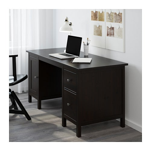 hemnes bureau brun noir ikea. Black Bedroom Furniture Sets. Home Design Ideas
