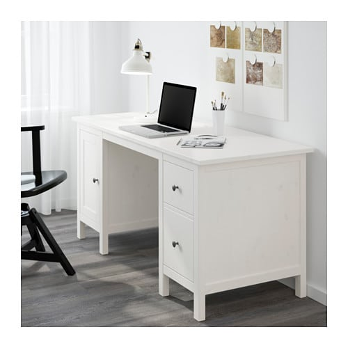 hemnes bureau teint blanc ikea. Black Bedroom Furniture Sets. Home Design Ideas