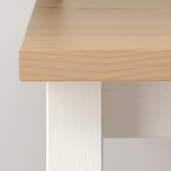 Hemnes Table Basse Teinte Blanc Brun Clair 90x90 Cm Ikea