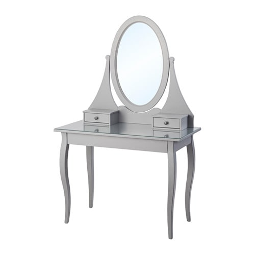 hemnes coiffeuse avec miroir gris ikea. Black Bedroom Furniture Sets. Home Design Ideas