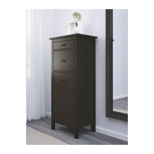 hemnes commode 5 tiroirs brun noir ikea. Black Bedroom Furniture Sets. Home Design Ideas