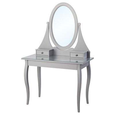 HEMNES coiffeuse avec miroir gris 100 cm 50 cm 159 cm