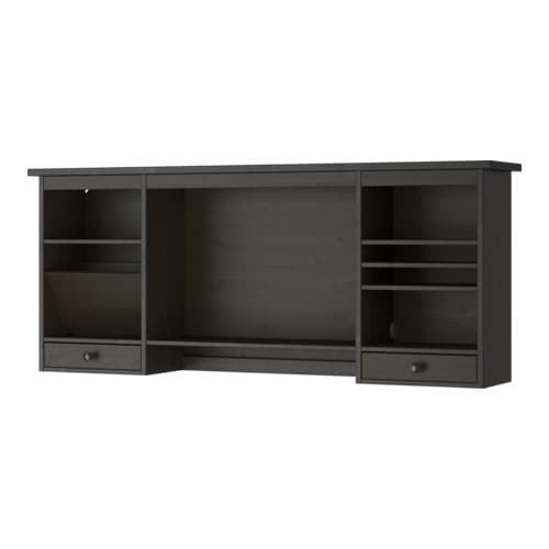 hemnes l ment compl mentaire bureau brun noir ikea. Black Bedroom Furniture Sets. Home Design Ideas