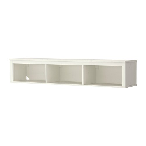 hemnes tag re murale pont teint blanc ikea. Black Bedroom Furniture Sets. Home Design Ideas