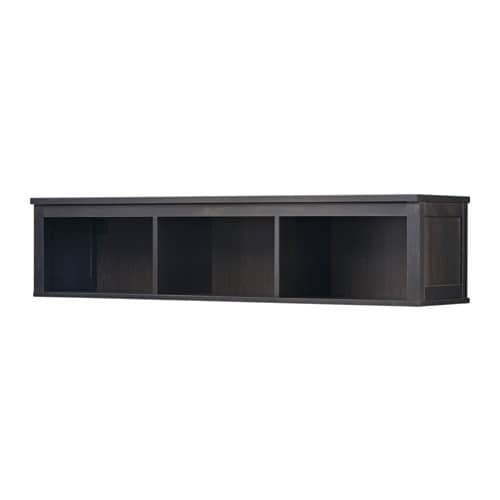 hemnes tag re murale pont brun noir 148x37 cm ikea. Black Bedroom Furniture Sets. Home Design Ideas