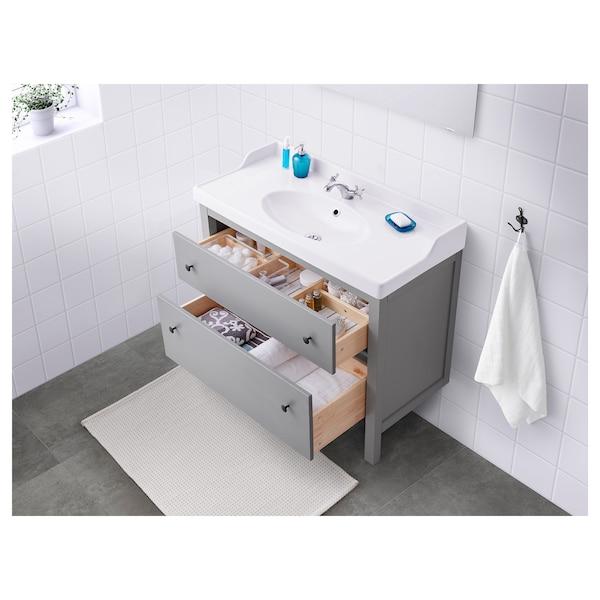 HEMNES Meuble lavabo 2tir, gris, 100x47x83 cm