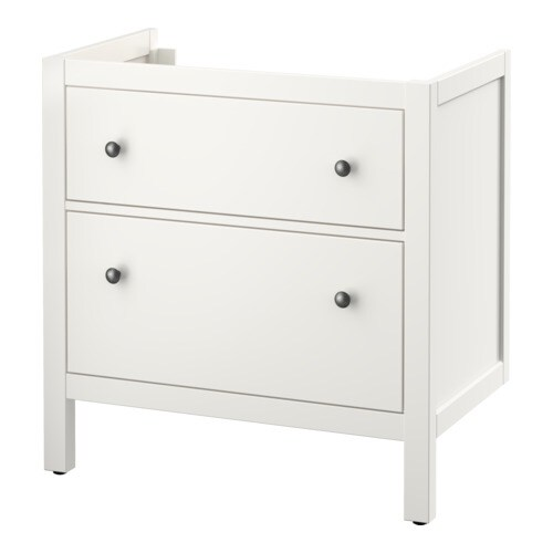 hemnes meuble lavabo 2tir blanc 80x47x83 cm ikea. Black Bedroom Furniture Sets. Home Design Ideas
