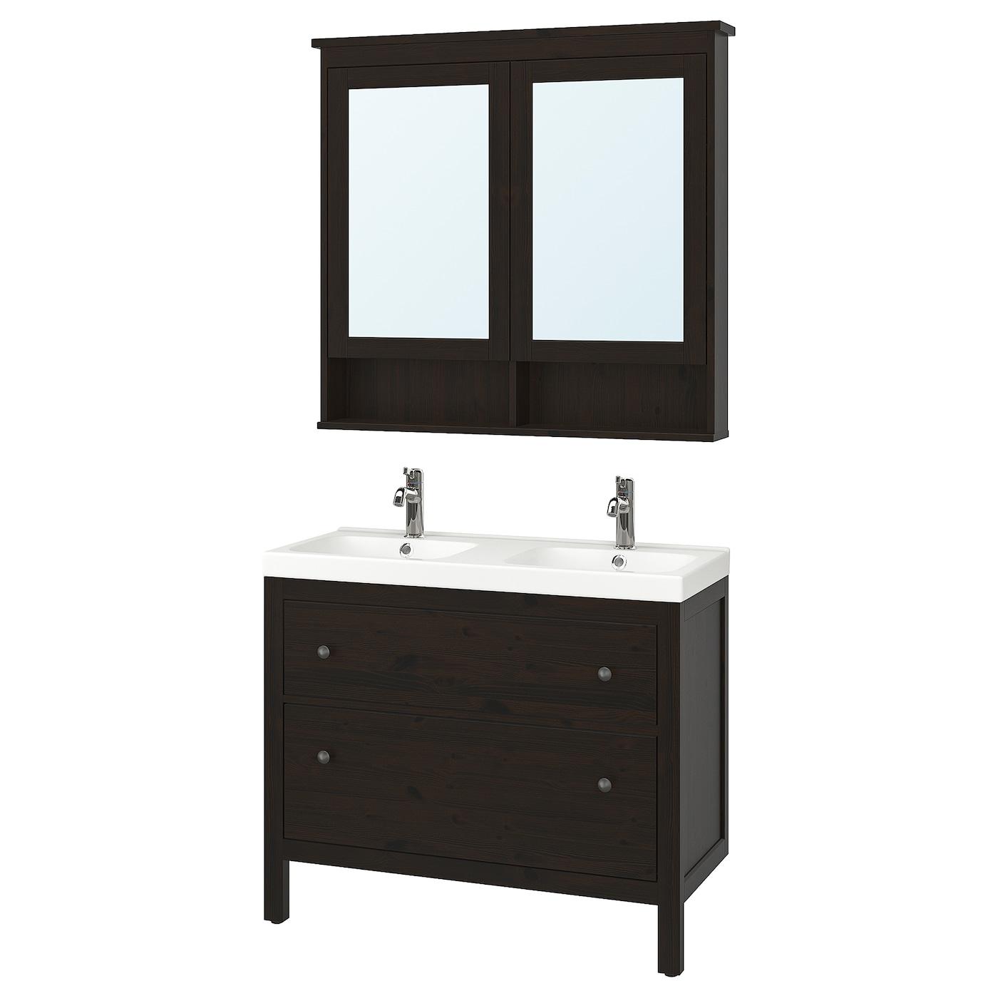Hemnes odensvik mobilier salle de bain 5 pi ces brun - Ustensiles salle de bain ...
