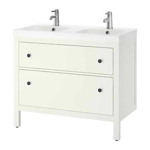 hemnes odensvik meuble lavabo 2tir blanc ikea. Black Bedroom Furniture Sets. Home Design Ideas