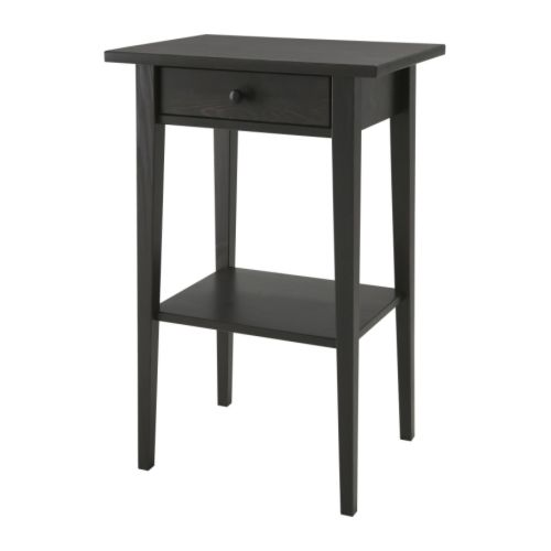 hemnes table de chevet brun noir ikea. Black Bedroom Furniture Sets. Home Design Ideas