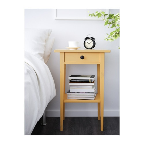 HEMNES Table de chevet - jaune - IKEA