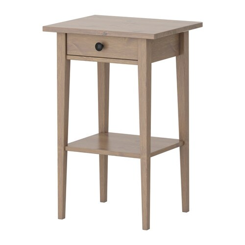 Hemnes table de chevet gris brun ikea for Table de chevet ikea