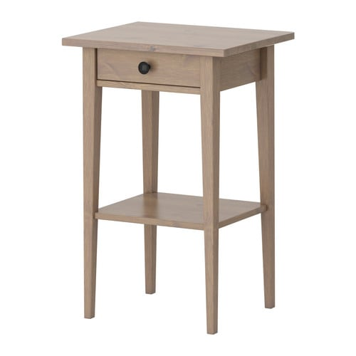 Hemnes table de chevet gris brun ikea - Table de chevet blanche ikea ...