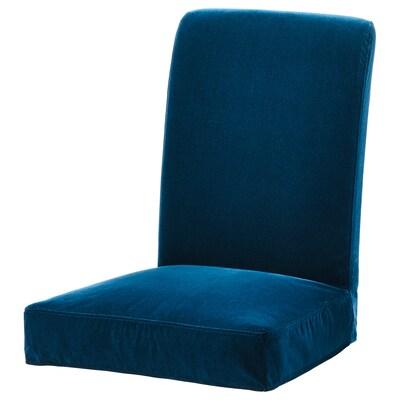 HENRIKSDAL housse pour chaise Djuparp vert-bleu foncé