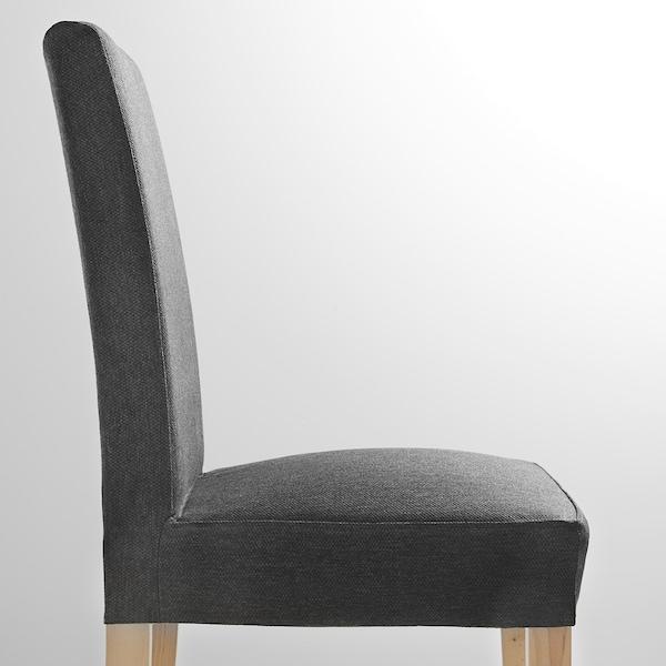 HENRIKSDAL chaise bouleau/Dansbo gris foncé 110 kg 51 cm 58 cm 97 cm 51 cm 42 cm 47 cm