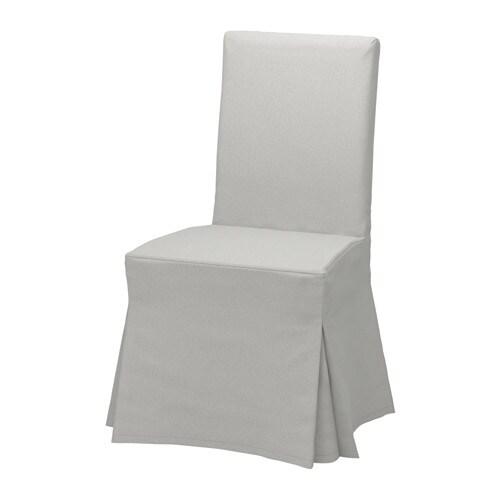 henriksdal chaise avec housse longue orrsta gris clair ch ne ikea. Black Bedroom Furniture Sets. Home Design Ideas