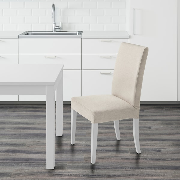 HENRIKSDAL Chaise, blanc/Linneryd naturel