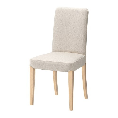 Henriksdal chaise linneryd cru ikea for Housse pour chaise ikea