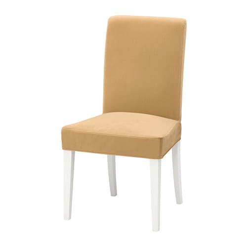 Henriksdal chaise dansbo gris foncé blanc ikea