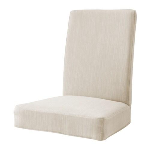 Henriksdal housse pour chaise ikea - Housse de chaise beige ...