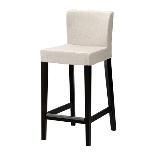 henriksdal tabouret de bar dossier brun noir linneryd naturel 63 cm ikea. Black Bedroom Furniture Sets. Home Design Ideas