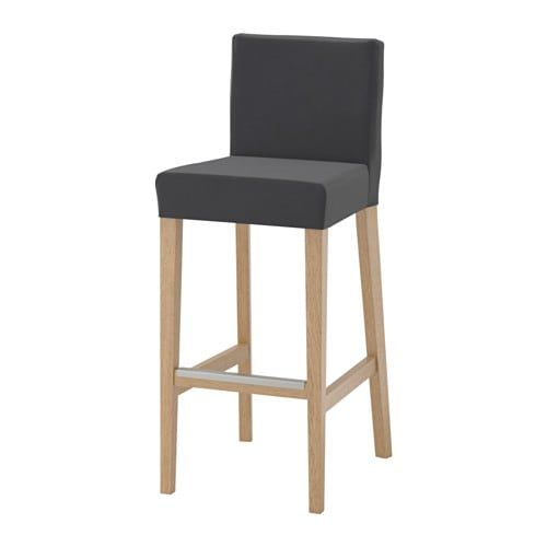 henriksdal tabouret de bar dossier ikea. Black Bedroom Furniture Sets. Home Design Ideas