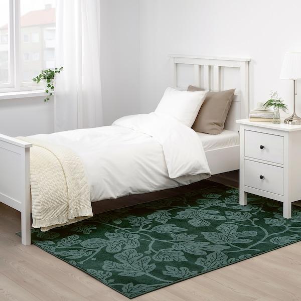 HILDIGARD tapis, poils ras vert 195 cm 133 cm 12 mm 2.59 m² 1880 g/m² 675 g/m² 9 mm