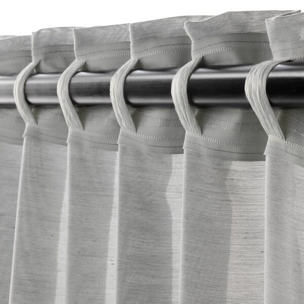 HILJA Rideaux, 2 pièces, gris, 145x300 cm